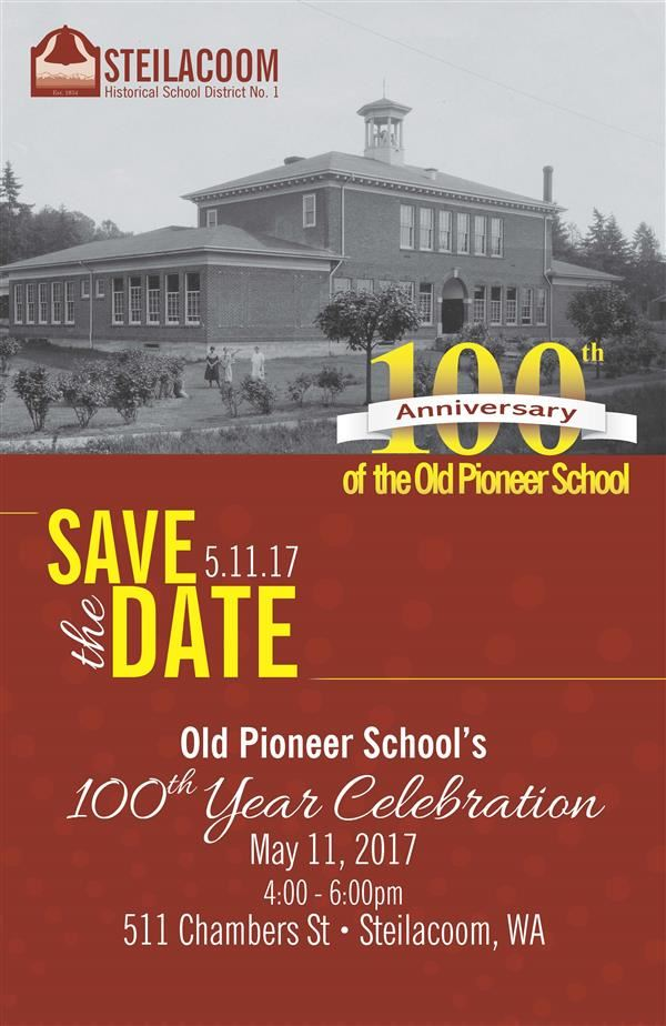 100th celebration of Pioneer Bldg poster