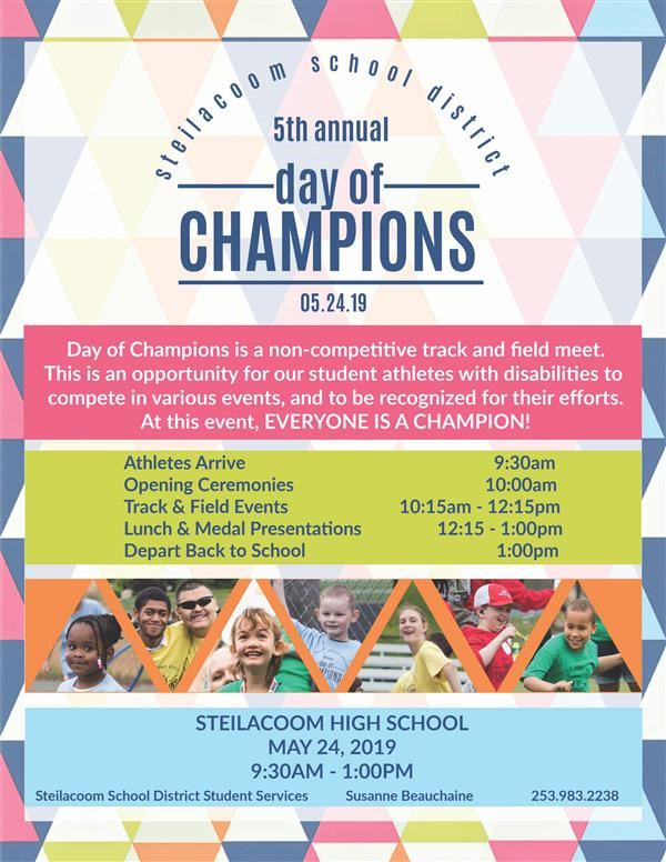 2019 day of Champions poster