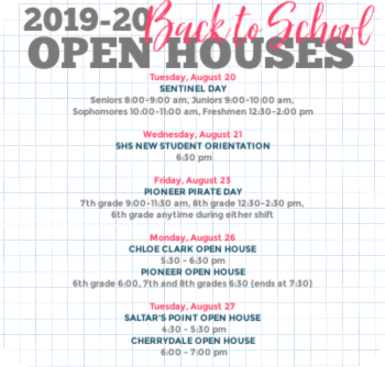 2019-20 Back to School Open Houses