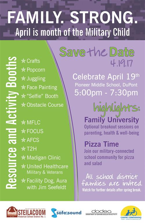 poster for family night april 19
