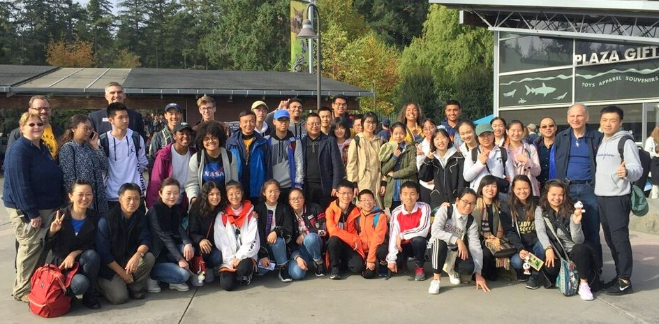 chinese visitors at Pt. Defiance Zoo