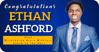 SHS Student Ethan Ashford Named 2021 Washington Military Youth of the Year!