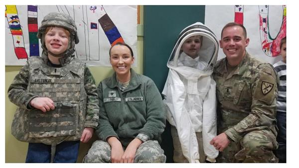 AI students and visiting military personnel