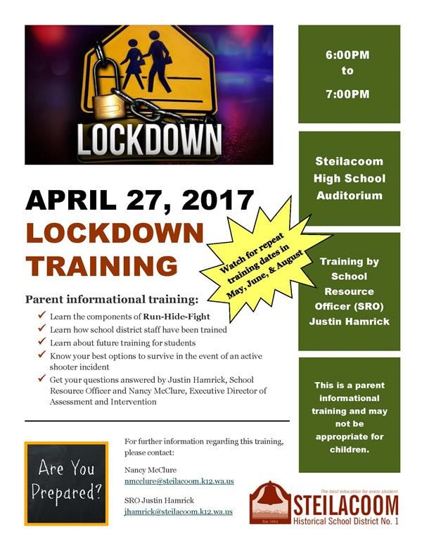 parent flyer lockdown training