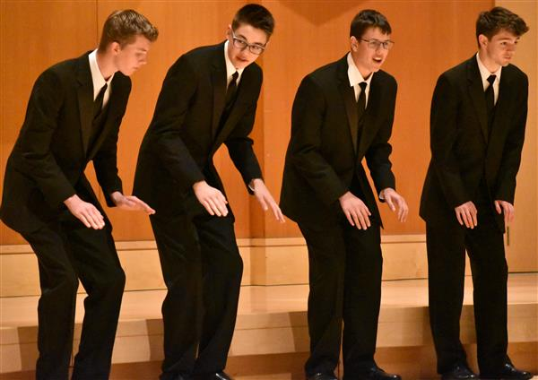 Steilacoom High mens chorus performing