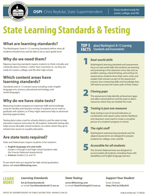 State Learning Standards & Testing