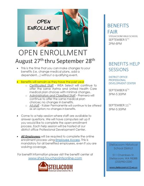 Benefits Open Enrollment Flyer